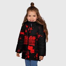 Куртка зимняя для девочки Led Zeppelin цвета 3D-черный — фото 2