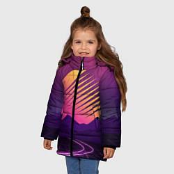 Куртка зимняя для девочки Digital Sun цвета 3D-черный — фото 2