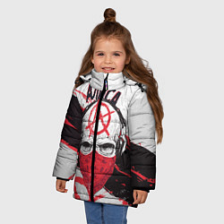 Куртка зимняя для девочки АлисА: Анархия цвета 3D-черный — фото 2