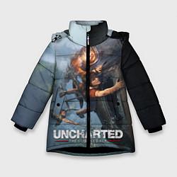 Куртка зимняя для девочки Uncharted: The Lost Legacy цвета 3D-черный — фото 1