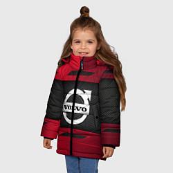 Куртка зимняя для девочки Volvo Sport цвета 3D-черный — фото 2