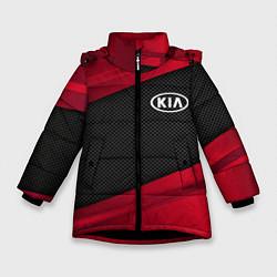 Куртка зимняя для девочки Kia: Red Sport цвета 3D-черный — фото 1