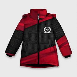 Детская зимняя куртка для девочки с принтом Mazda: Red Sport, цвет: 3D-черный, артикул: 10153000306065 — фото 1