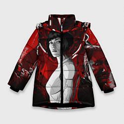 Куртка зимняя для девочки Призрак в доспехах цвета 3D-черный — фото 1