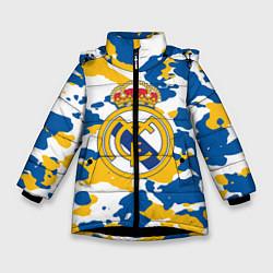 Куртка зимняя для девочки Real Madrid: Camo цвета 3D-черный — фото 1