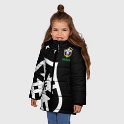 Куртка зимняя для девочки Brazil Team: Exclusive цвета 3D-черный — фото 2