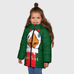 Куртка зимняя для девочки GUSSI Beak цвета 3D-черный — фото 2