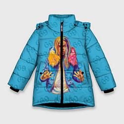 Куртка зимняя для девочки 6IX9INE 69 цвета 3D-черный — фото 1