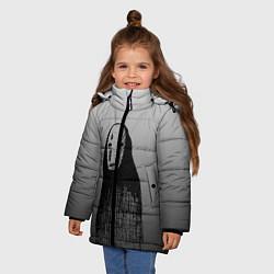 Куртка зимняя для девочки Унесенные призраками цвета 3D-черный — фото 2