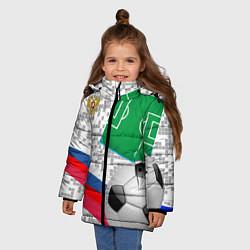 Куртка зимняя для девочки Русский футбол цвета 3D-черный — фото 2