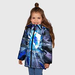 Детская зимняя куртка для девочки с принтом Team Liquid: Splinters, цвет: 3D-черный, артикул: 10156122106065 — фото 2