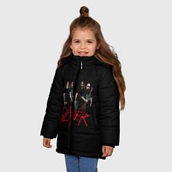 Детская зимняя куртка для девочки с принтом Slayer Band, цвет: 3D-черный, артикул: 10156552506065 — фото 2