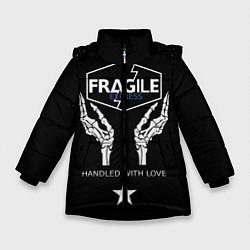 Куртка зимняя для девочки Death Stranding: Fragile Express цвета 3D-черный — фото 1