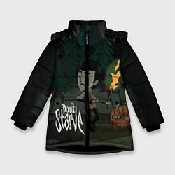 Куртка зимняя для девочки Don't Starve: Night Forrest цвета 3D-черный — фото 1
