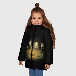 Куртка зимняя для девочки Don't Starve campfire цвета 3D-черный — фото 2