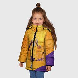 Куртка зимняя для девочки LeBron James: NBA Star цвета 3D-черный — фото 2