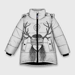 Куртка зимняя для девочки True Detective: Horny Girl цвета 3D-черный — фото 1