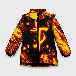 Куртка зимняя для девочки DOOM: The Crucible цвета 3D-черный — фото 1