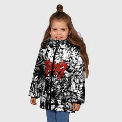 Куртка зимняя для девочки Berserk Stories цвета 3D-черный — фото 2
