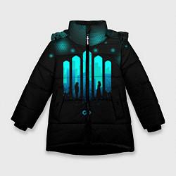 Куртка зимняя для девочки The 100: City цвета 3D-черный — фото 1