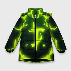 Куртка зимняя для девочки DOOM Covered цвета 3D-черный — фото 1