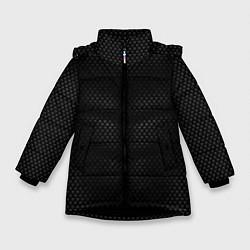 Куртка зимняя для девочки Карбоновая броня цвета 3D-черный — фото 1