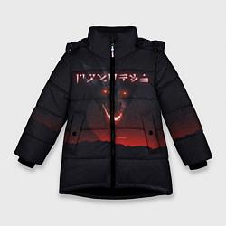 Куртка зимняя для девочки TES: Hell Dragon цвета 3D-черный — фото 1
