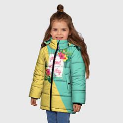 Куртка зимняя для девочки Good Mood Every Day цвета 3D-черный — фото 2