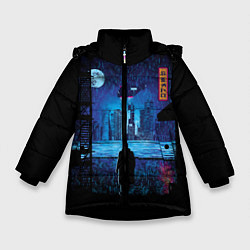 Куртка зимняя для девочки Blade Runner: Dark Night цвета 3D-черный — фото 1