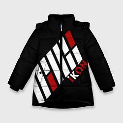 Куртка зимняя для девочки IKON цвета 3D-черный — фото 1