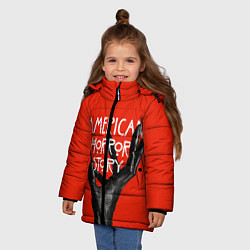 Куртка зимняя для девочки Американская История Ужасов цвета 3D-черный — фото 2