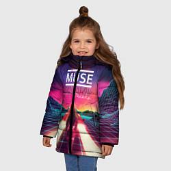Куртка зимняя для девочки Muse: Simulation Theory цвета 3D-черный — фото 2