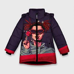 Куртка зимняя для девочки GONE Fludd цвета 3D-черный — фото 1