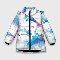 Куртка зимняя для девочки Неоновый штурмовик цвета 3D-черный — фото 1