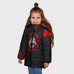 Куртка зимняя для девочки Убийца Гоблинов цвета 3D-черный — фото 2