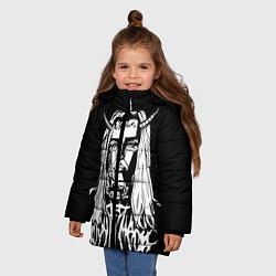 Куртка зимняя для девочки Ghostemane: Devil цвета 3D-черный — фото 2