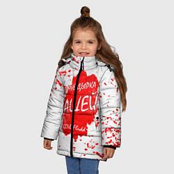 Куртка зимняя для девочки GONE Fludd - Зашей цвета 3D-черный — фото 2