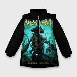 Куртка зимняя для девочки Alestorm: Death Pirate цвета 3D-черный — фото 1