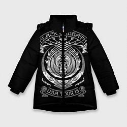 Детская зимняя куртка для девочки с принтом Black Sabbath, цвет: 3D-черный, артикул: 10170570506065 — фото 1