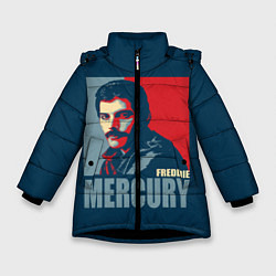 Куртка зимняя для девочки Queen: Freddie Mercury цвета 3D-черный — фото 1