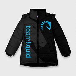 Куртка зимняя для девочки TEAM LIQUID цвета 3D-черный — фото 1