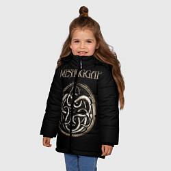 Куртка зимняя для девочки Meshuggah цвета 3D-черный — фото 2
