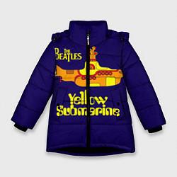 Куртка зимняя для девочки The Beatles: Yellow Submarine цвета 3D-черный — фото 1