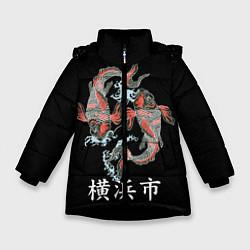 Куртка зимняя для девочки Иокогама цвета 3D-черный — фото 1