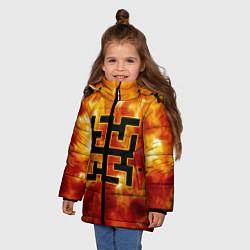 Куртка зимняя для девочки Огненный символ Духобор цвета 3D-черный — фото 2