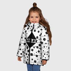 Куртка зимняя для девочки Roblox Pattern цвета 3D-черный — фото 2