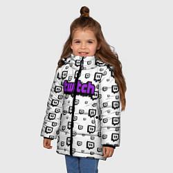 Куртка зимняя для девочки Twitch Online цвета 3D-черный — фото 2