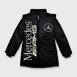 Куртка зимняя для девочки Mercedes AMG: Black Edition цвета 3D-черный — фото 1