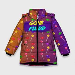 Куртка зимняя для девочки Gone Fludd art 5 цвета 3D-черный — фото 1