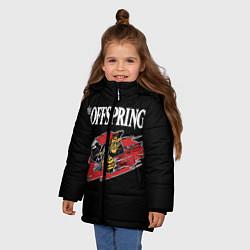 Куртка зимняя для девочки The Offspring: Taxi цвета 3D-черный — фото 2